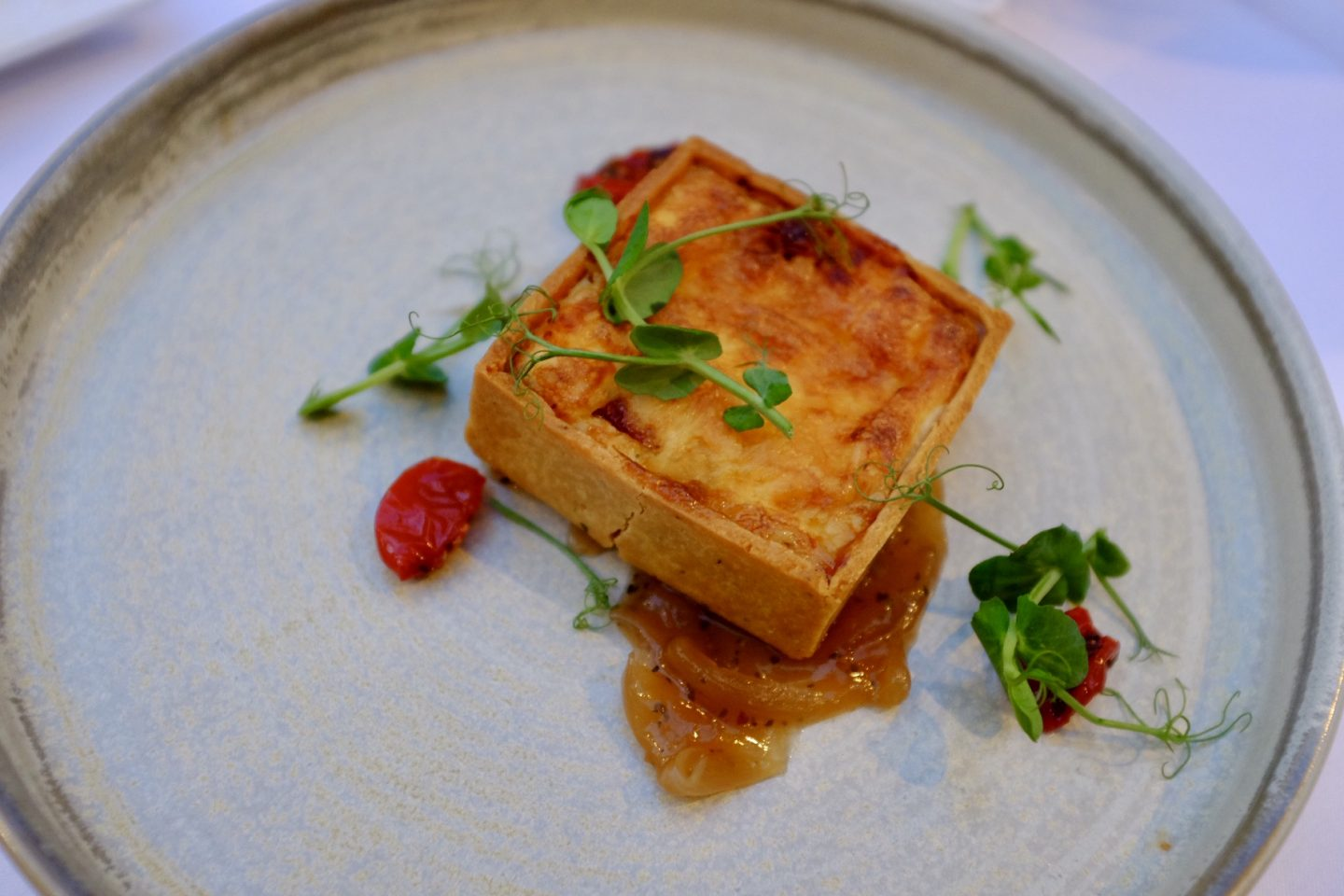tomato and applewood tartlet