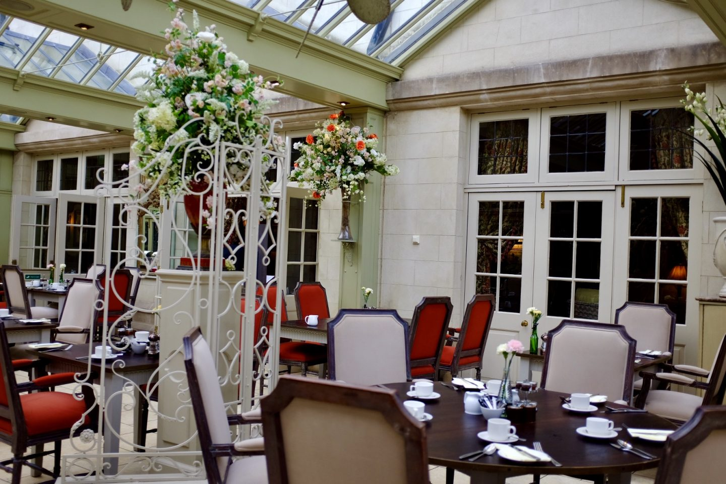 the conservatory at Coombe Abbey hotel