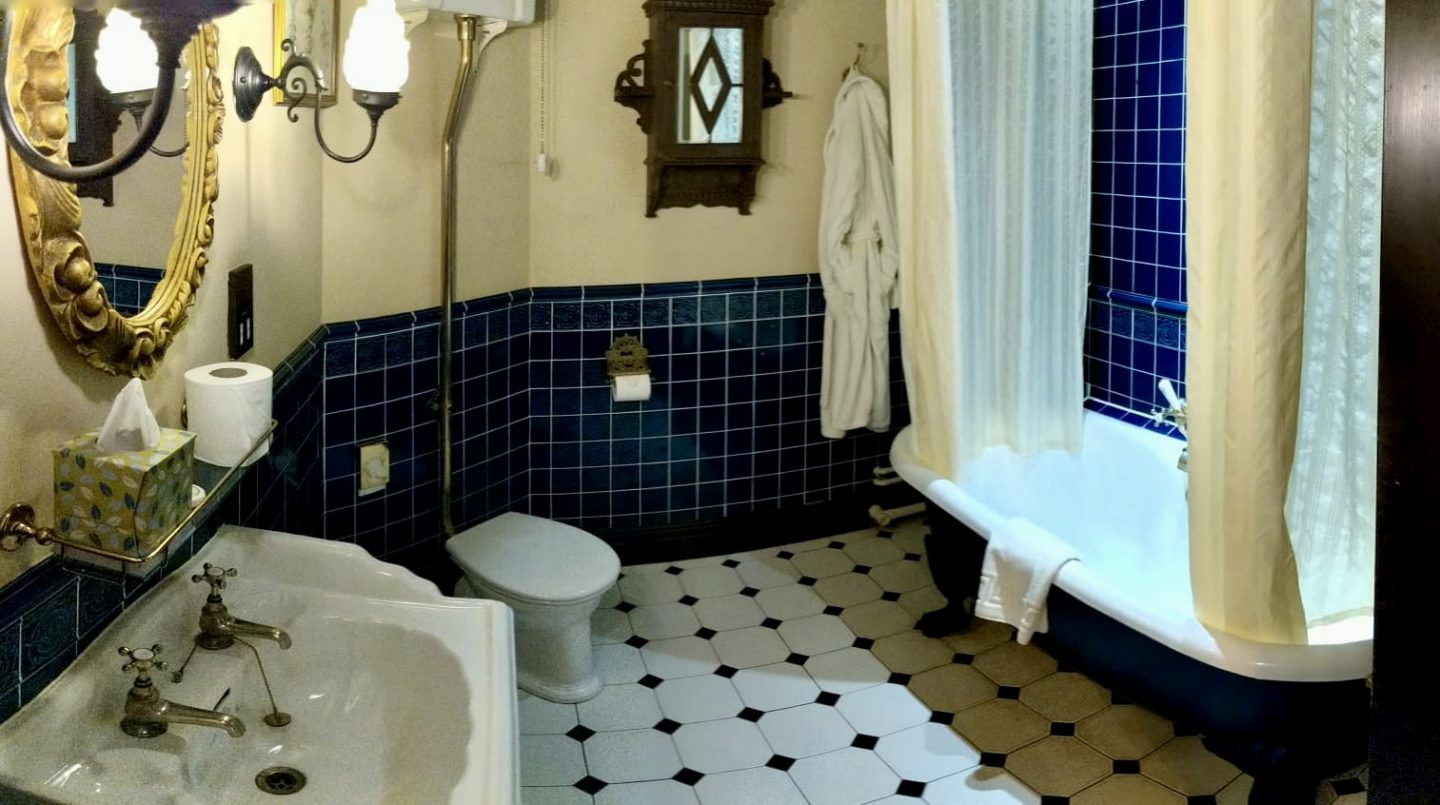 bathroom in feature room