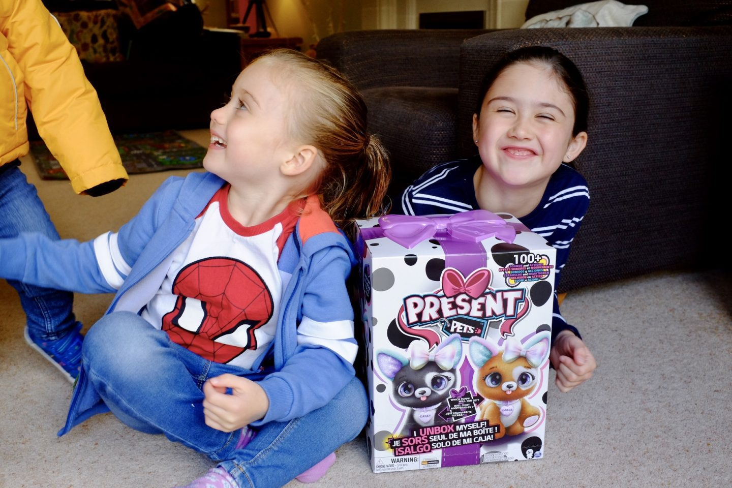 Kids waiting to unbox present pets
