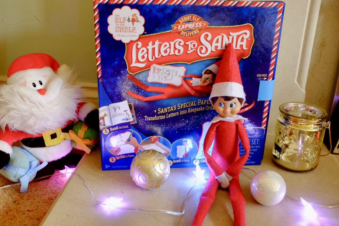 Letters to Santa with Elf on the Shelf