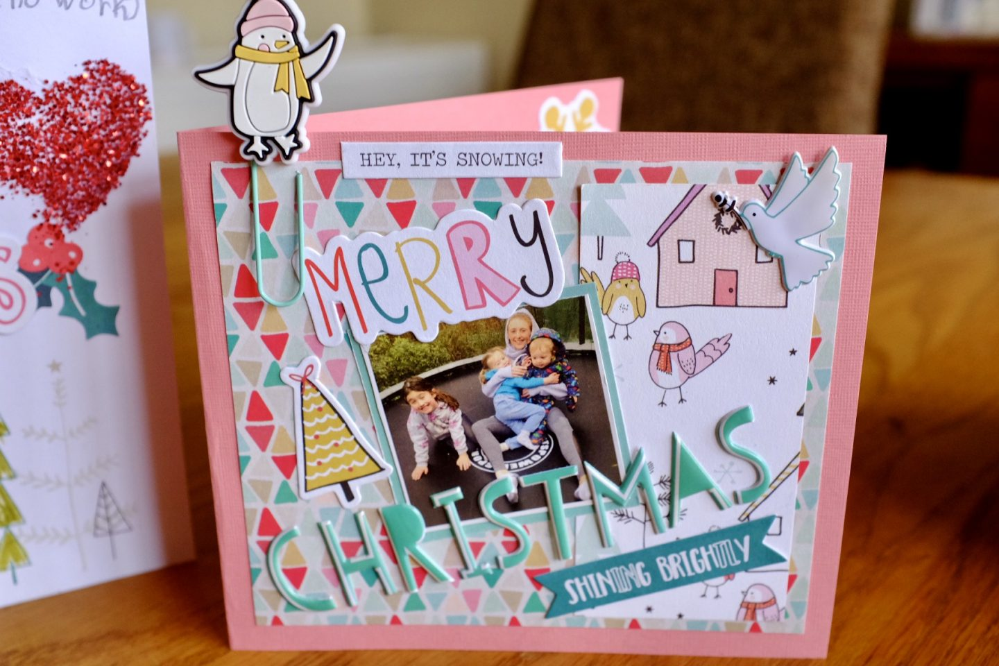 Christmas Scrapbook Style Cards – A Kid's Activity
