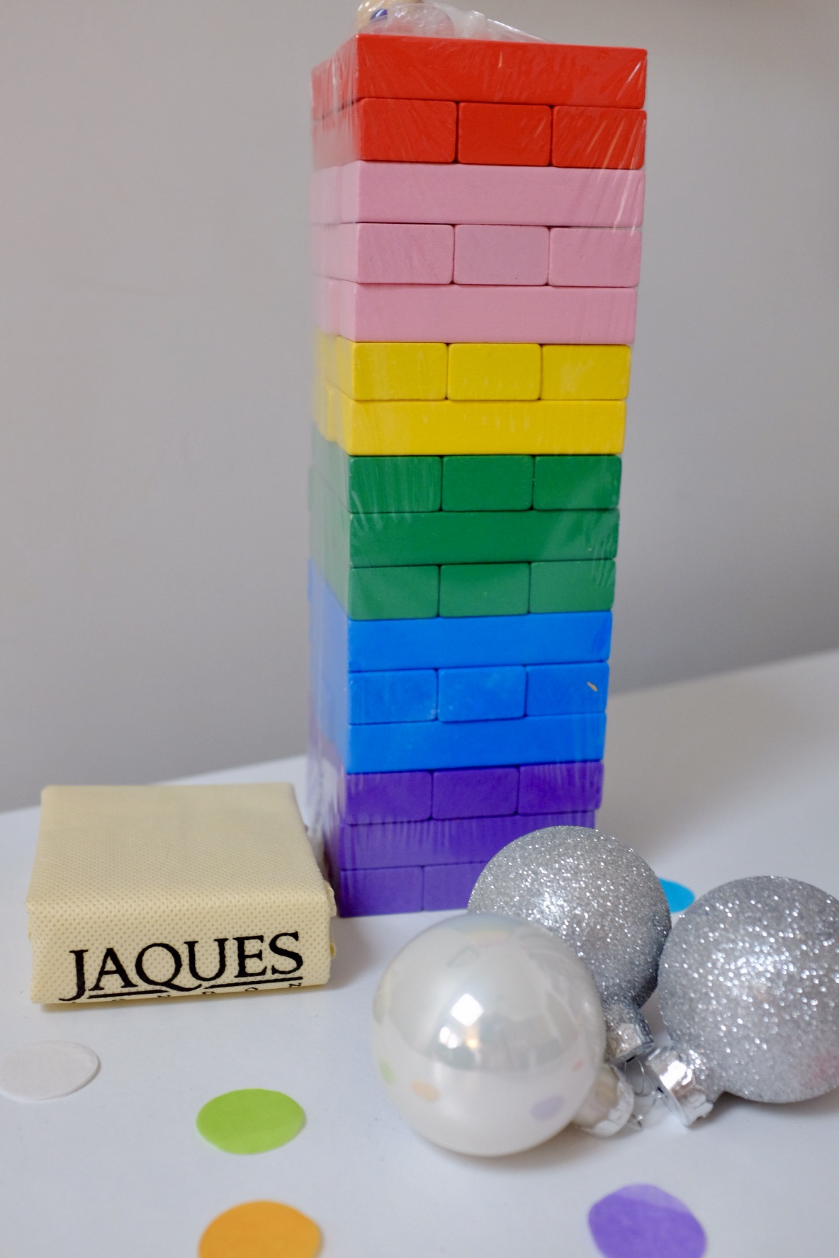 rainbow gift ideas - rainbow tumble tower from Jaques