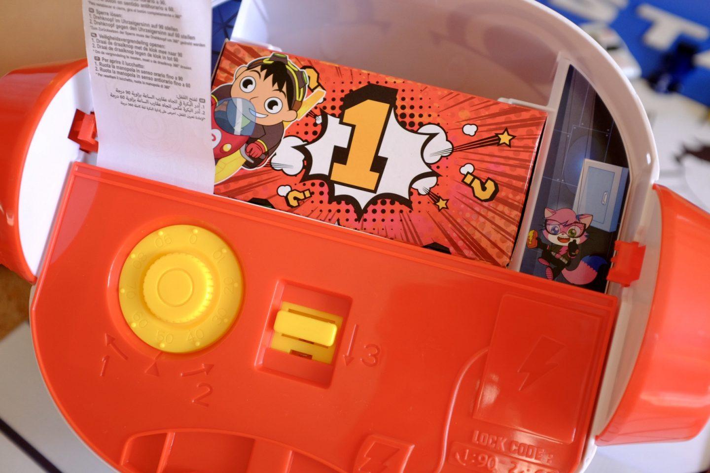 The first mystery box Ryan's World Panda Head Playset