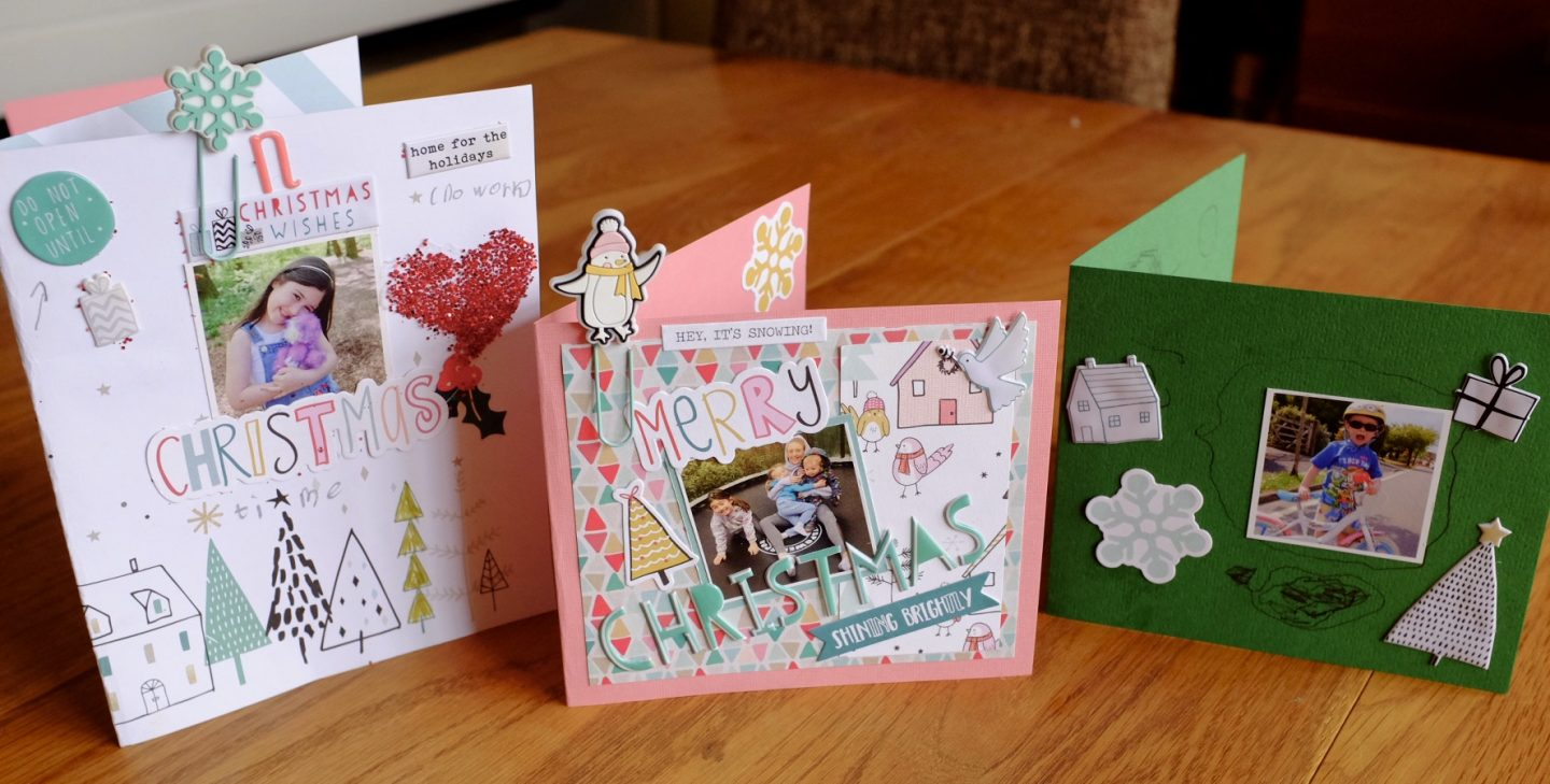 Christmas scrapbook style cards