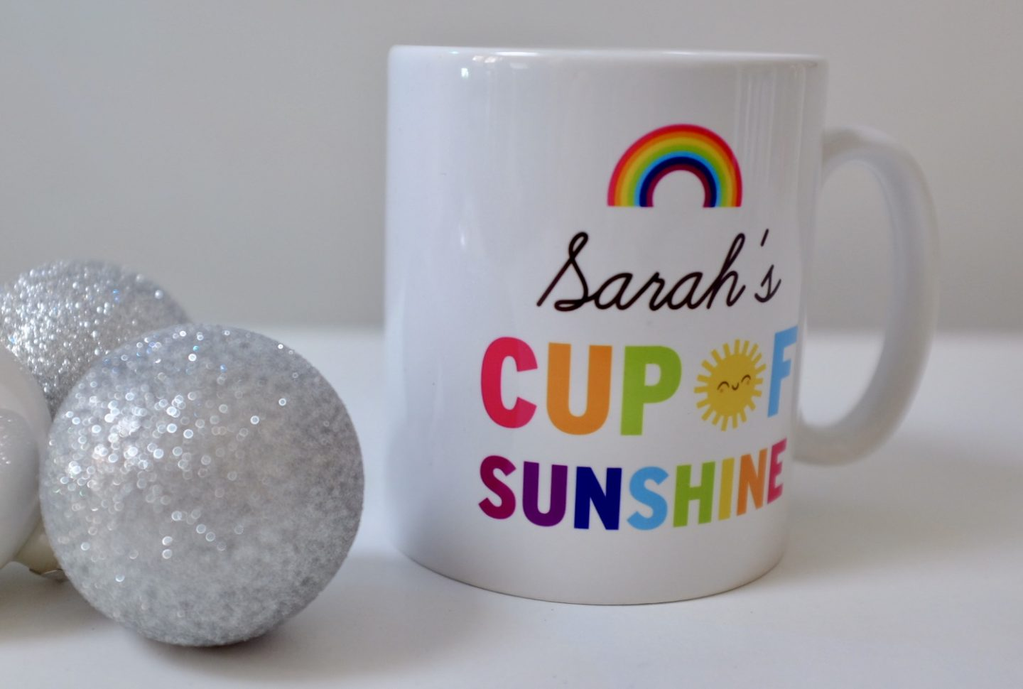 Personalised Mug - Cup of Sunshine & Rainbows