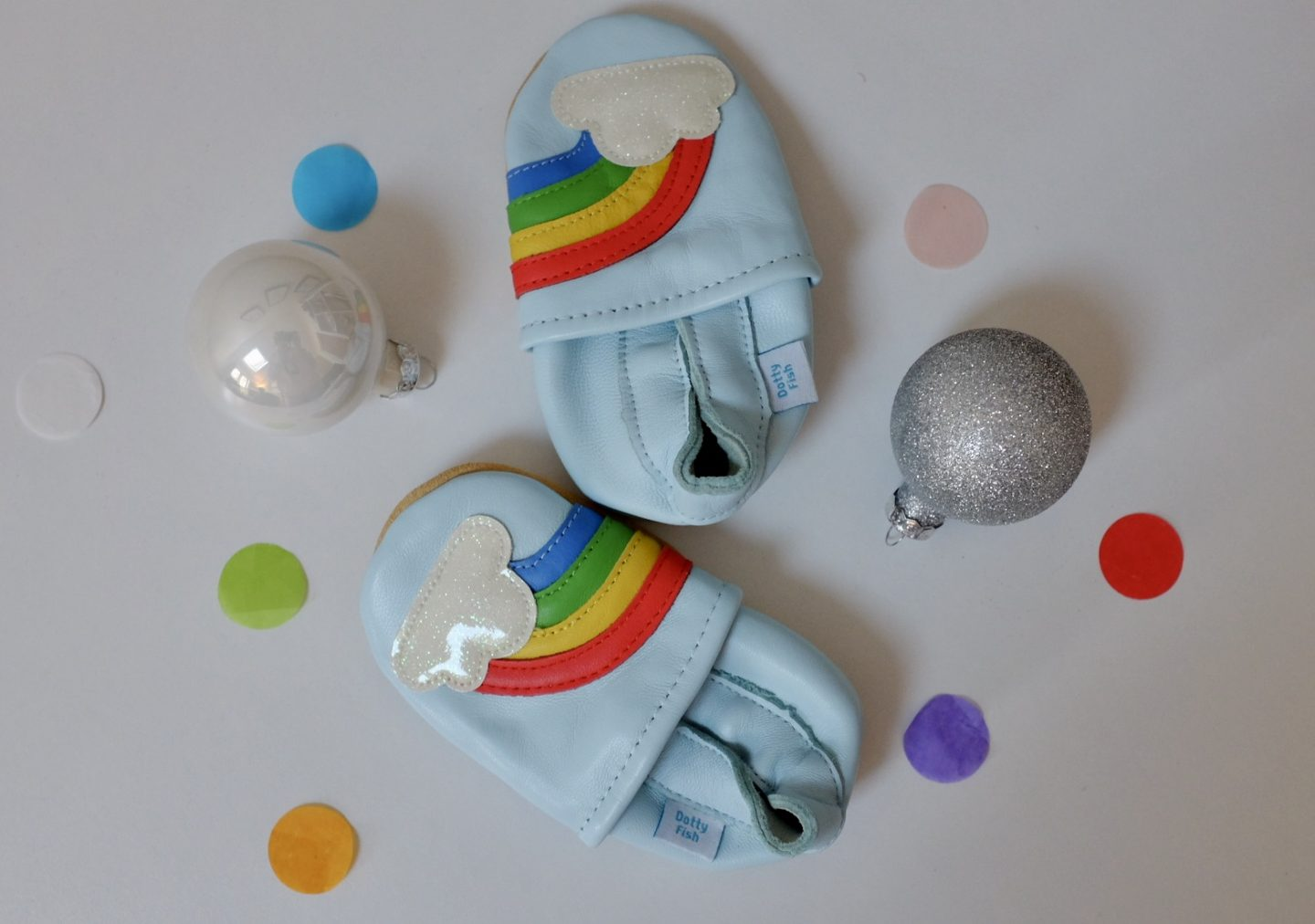 dotty fish rainbow shoes