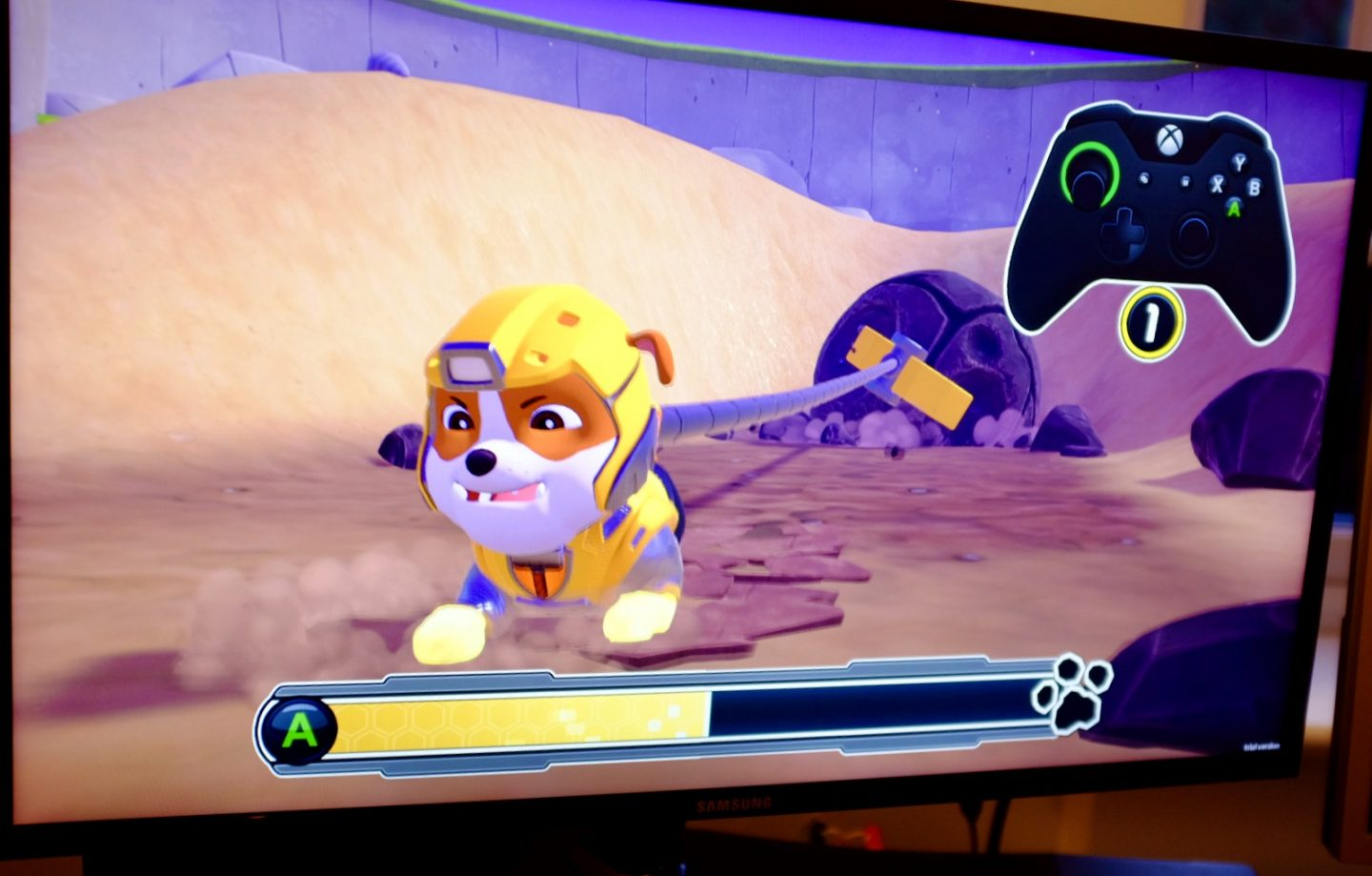 Playing Paw Patrol Mighty Pups Save Adventure Bay