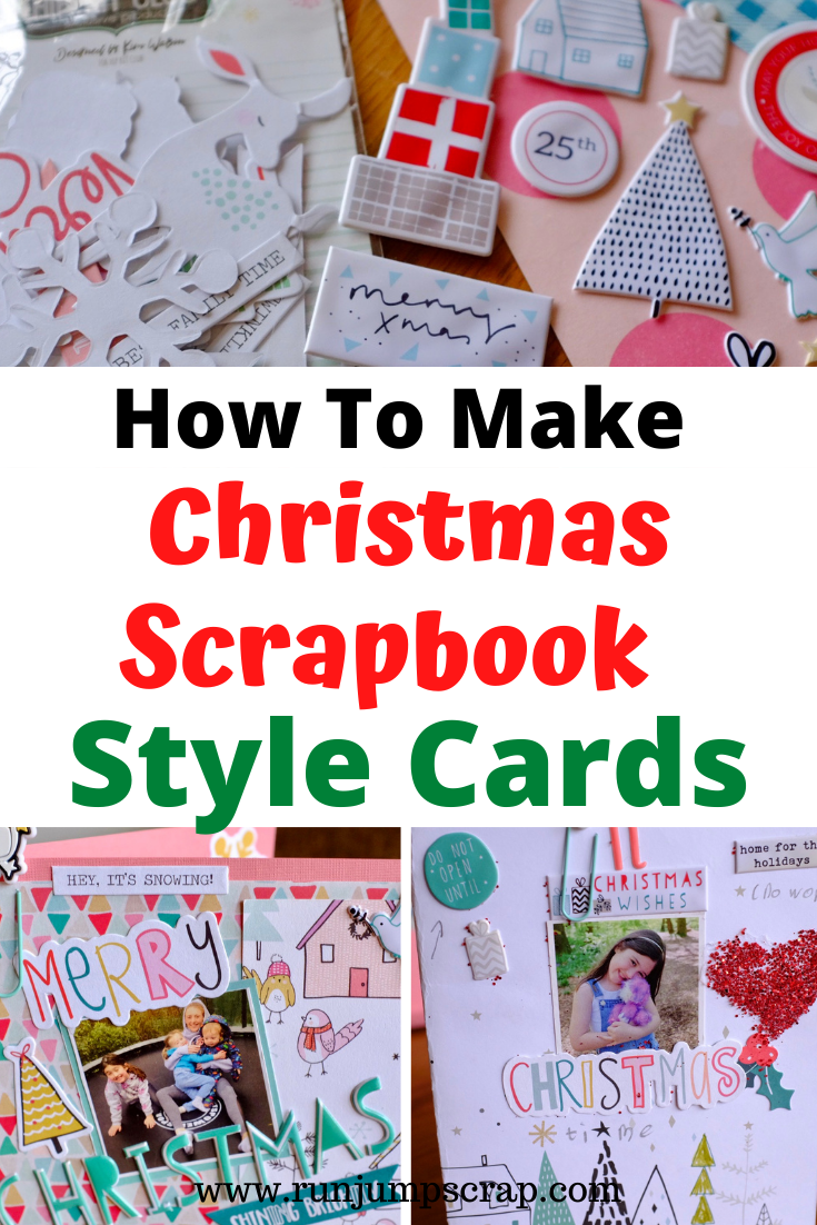 Christmas Scrapbook Style Cards How to Make