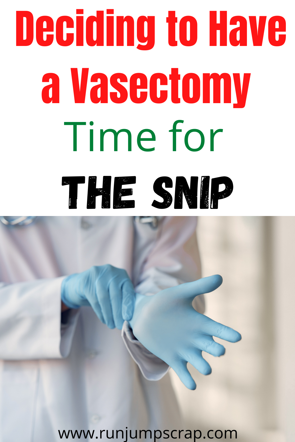 deciding to have a vasectomy