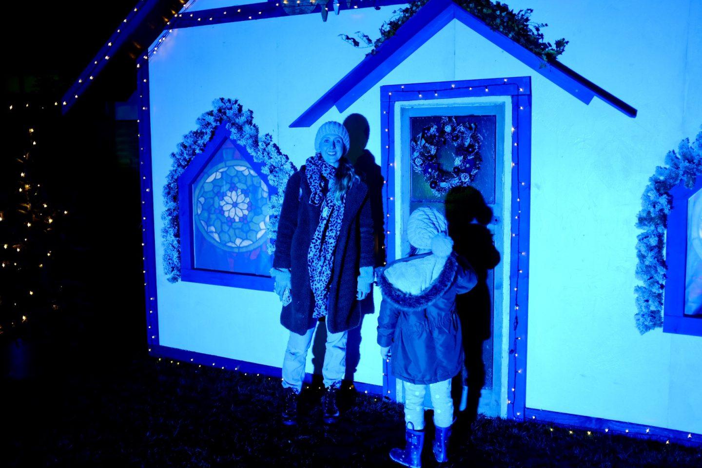 christmas lit up house malvern winter glow
