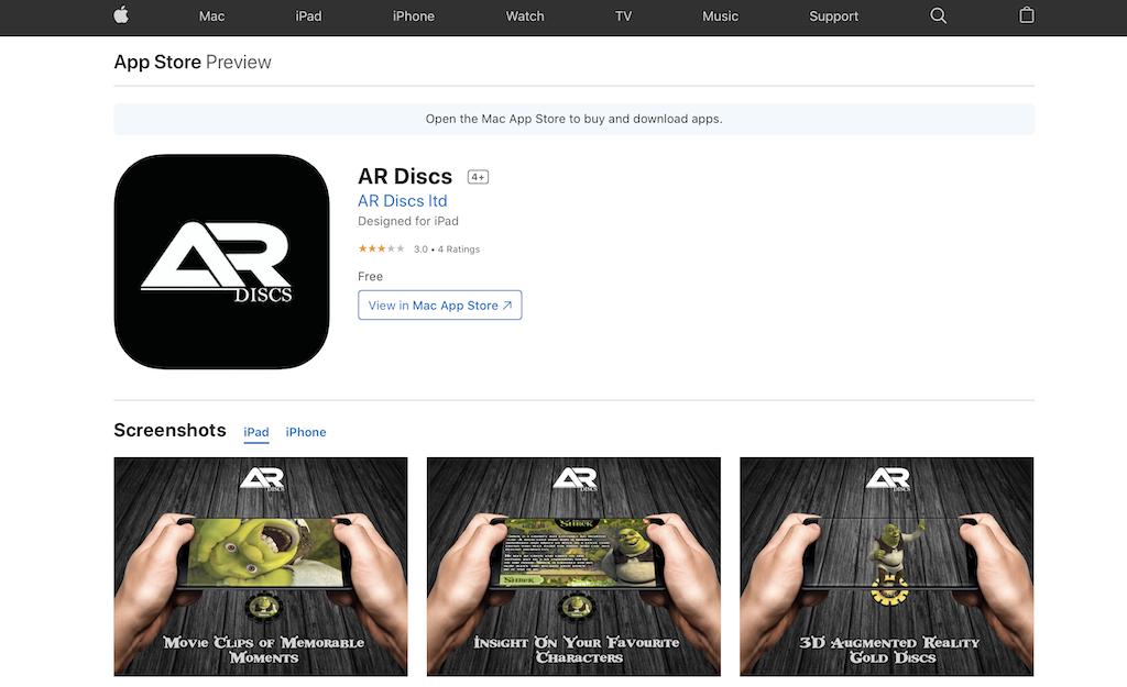 AR discs on the App Store