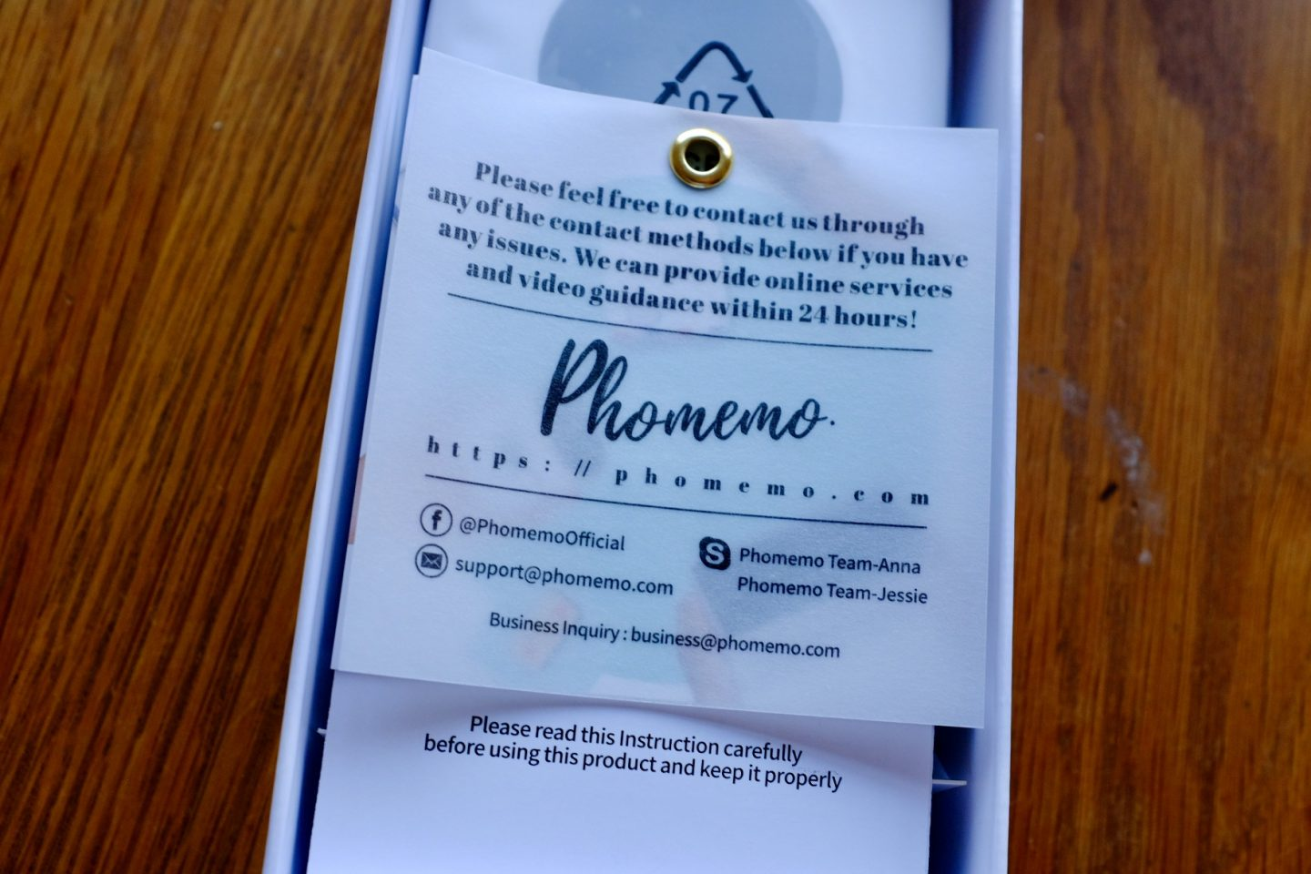 Phomemo information label