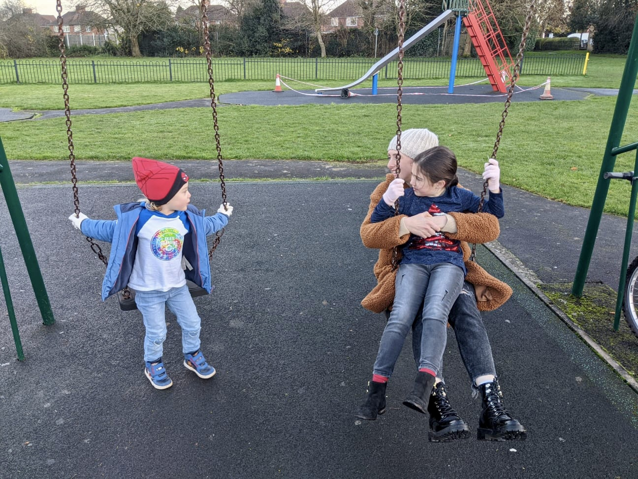 family in a park - lockdown outdoor activities