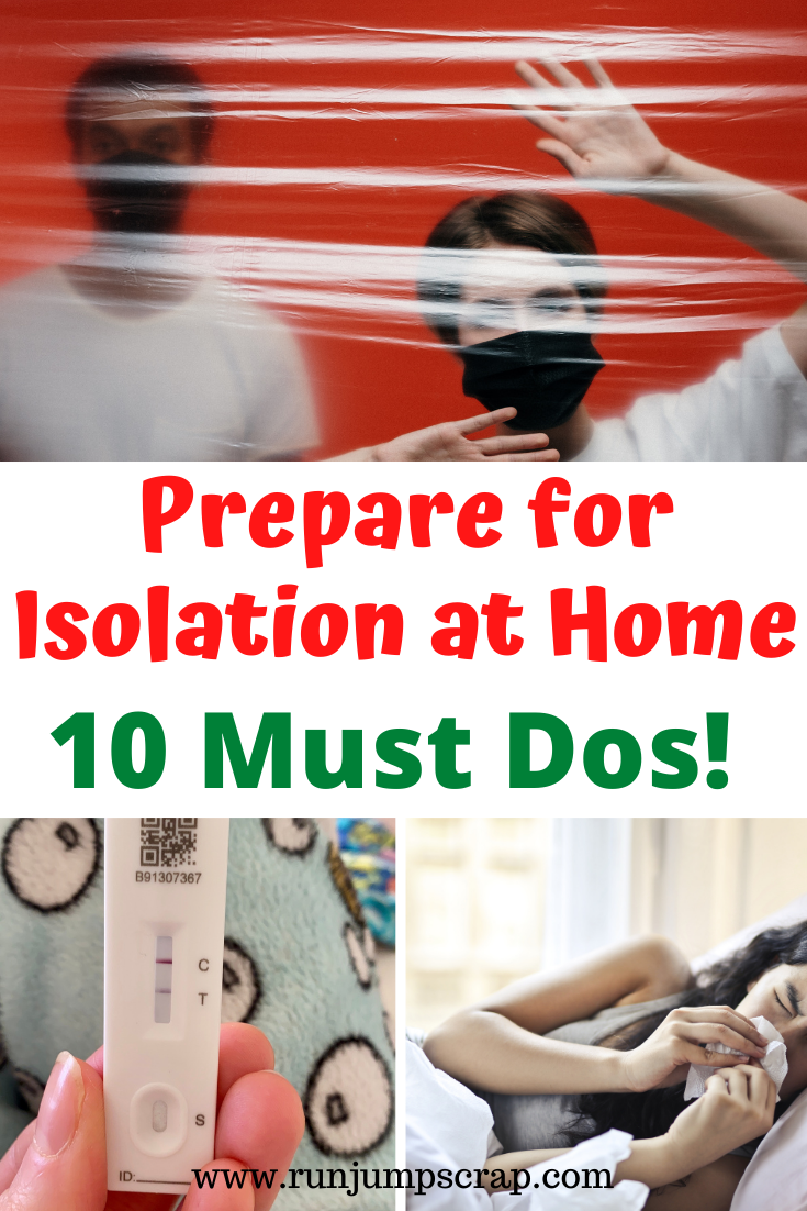 prepare for isolation at home