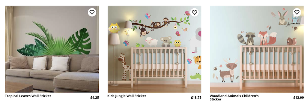 wall stickers from Tenstickers