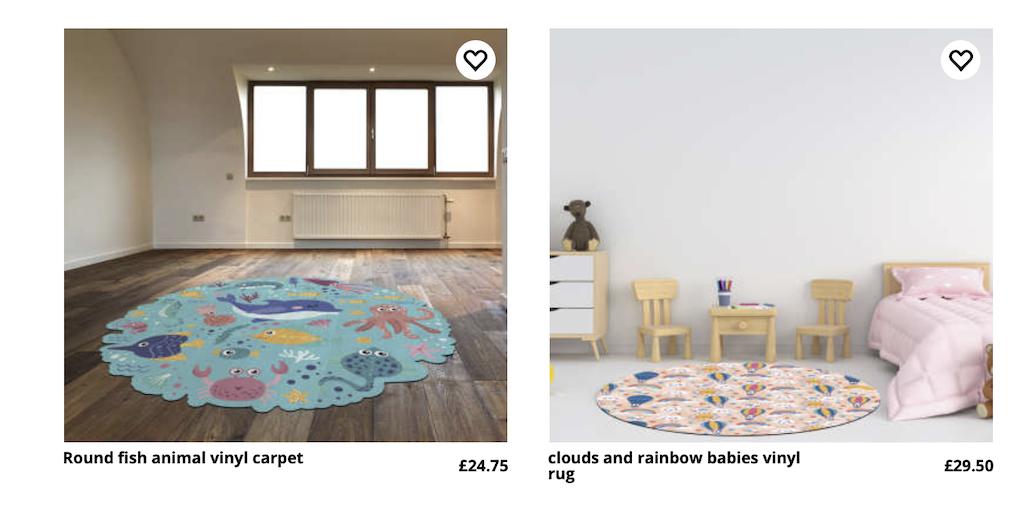 vinyl rugs from tenstickers