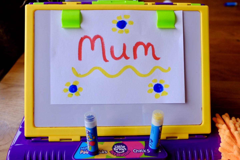 mum written on Little Brian Art station