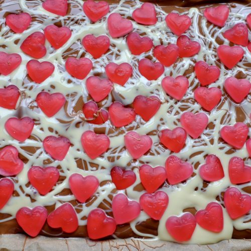 Valentine's Heart Chocolate Bark