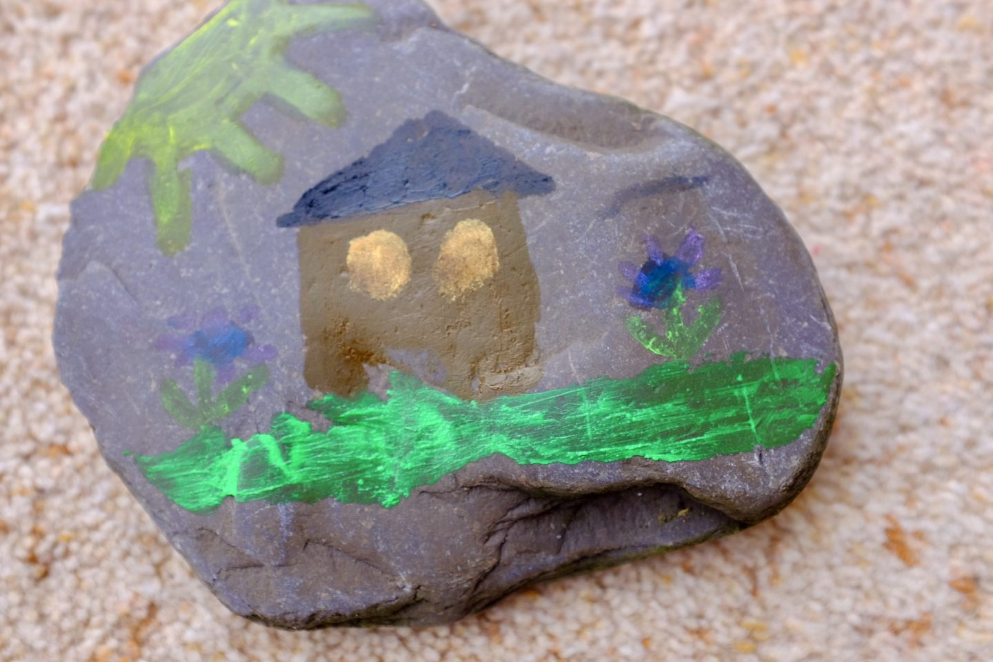 rock painting with Little Brian Paintsticks