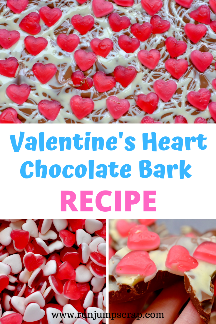 Valentine's Heart Chocolate Bark Recipe