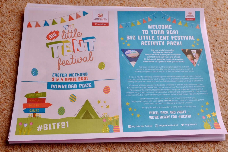 big little tent festival pack