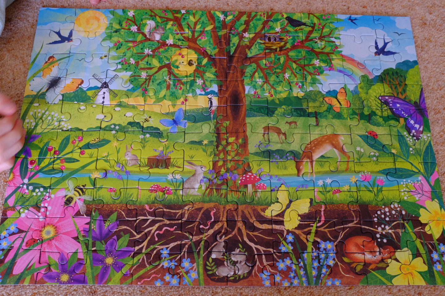 completed Wonderful Wildlife Jigsaw from Little Gibsons