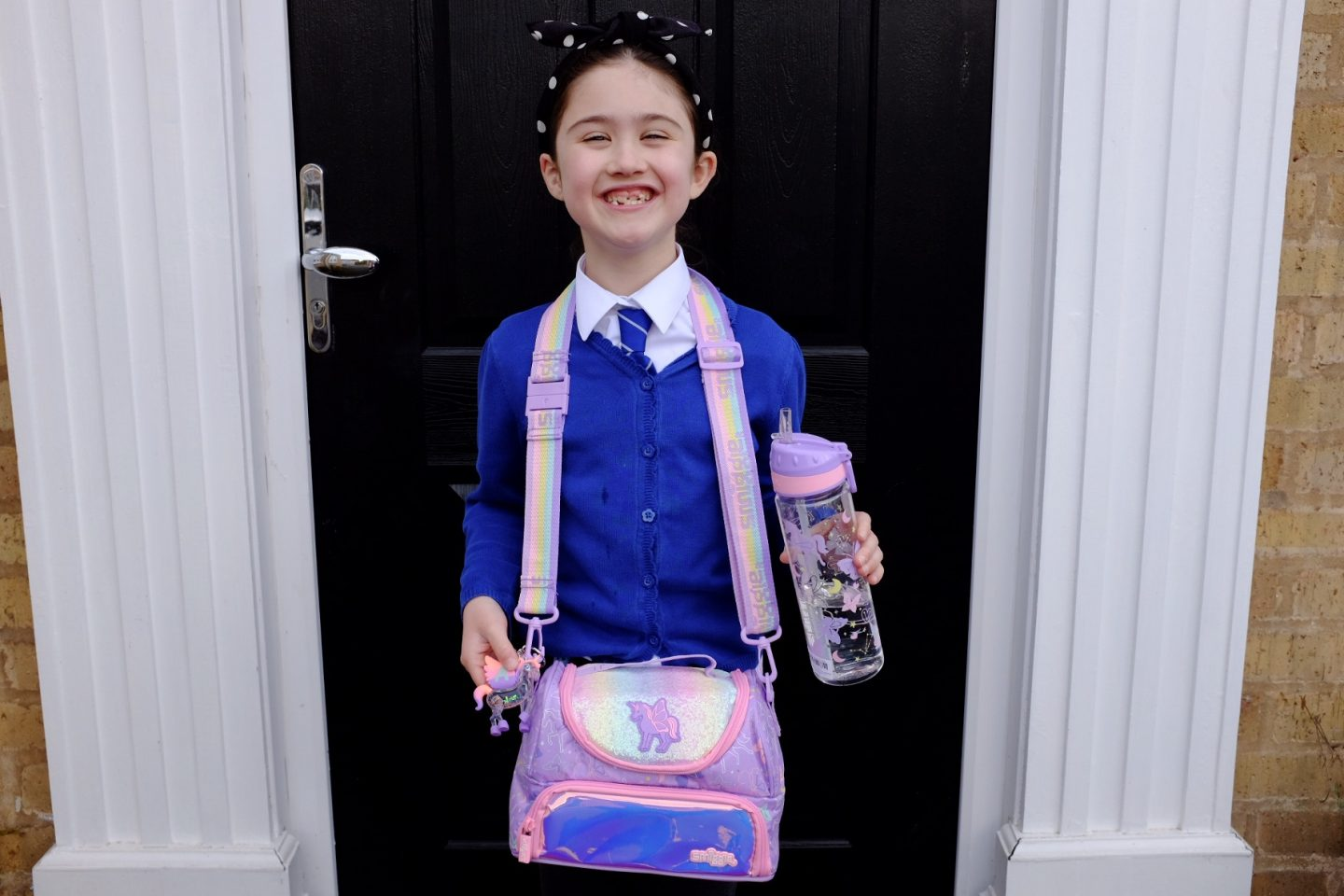 girl wearing Smiggle sky collection