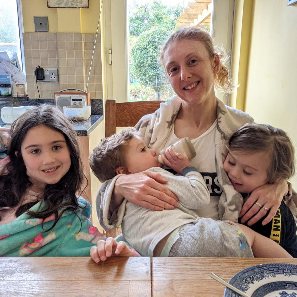 mum and three kids - positives of lockdown