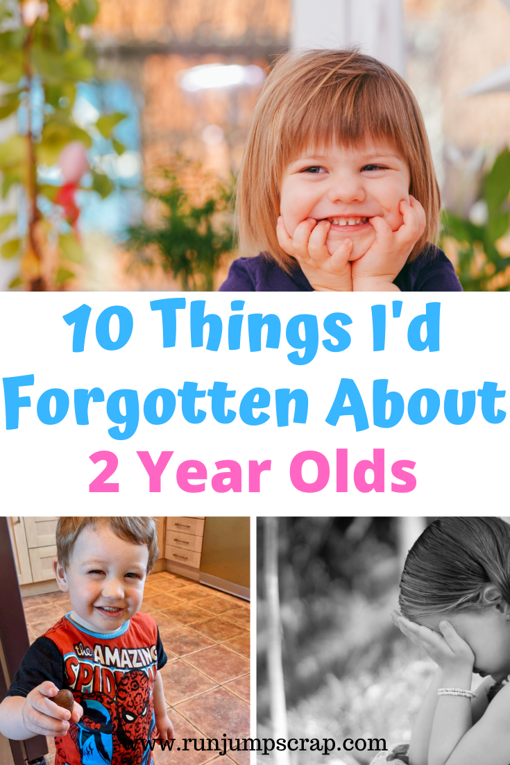 10 things I'd forgotten about 2 year olds