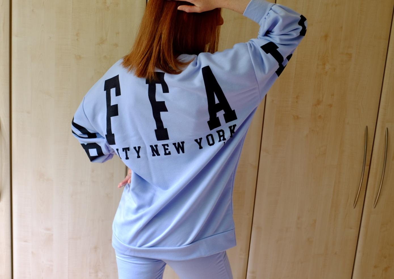 buffs New York blue loungewear set femme luxe