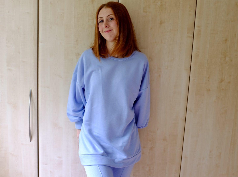blue loungewear set femme luxe