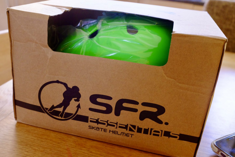 the SFR kids scooter/skate helmet