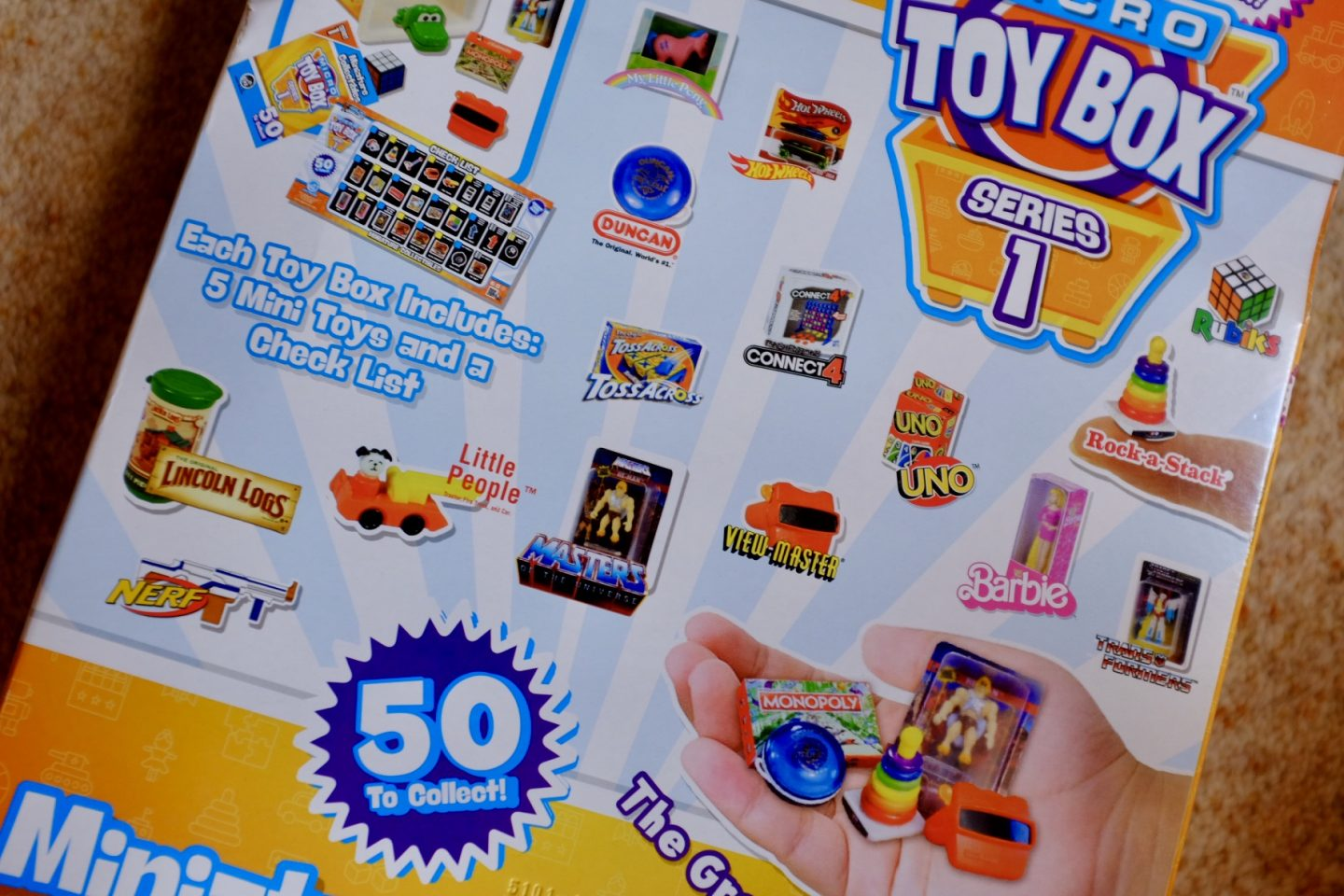 Micro toy box 15 pack back