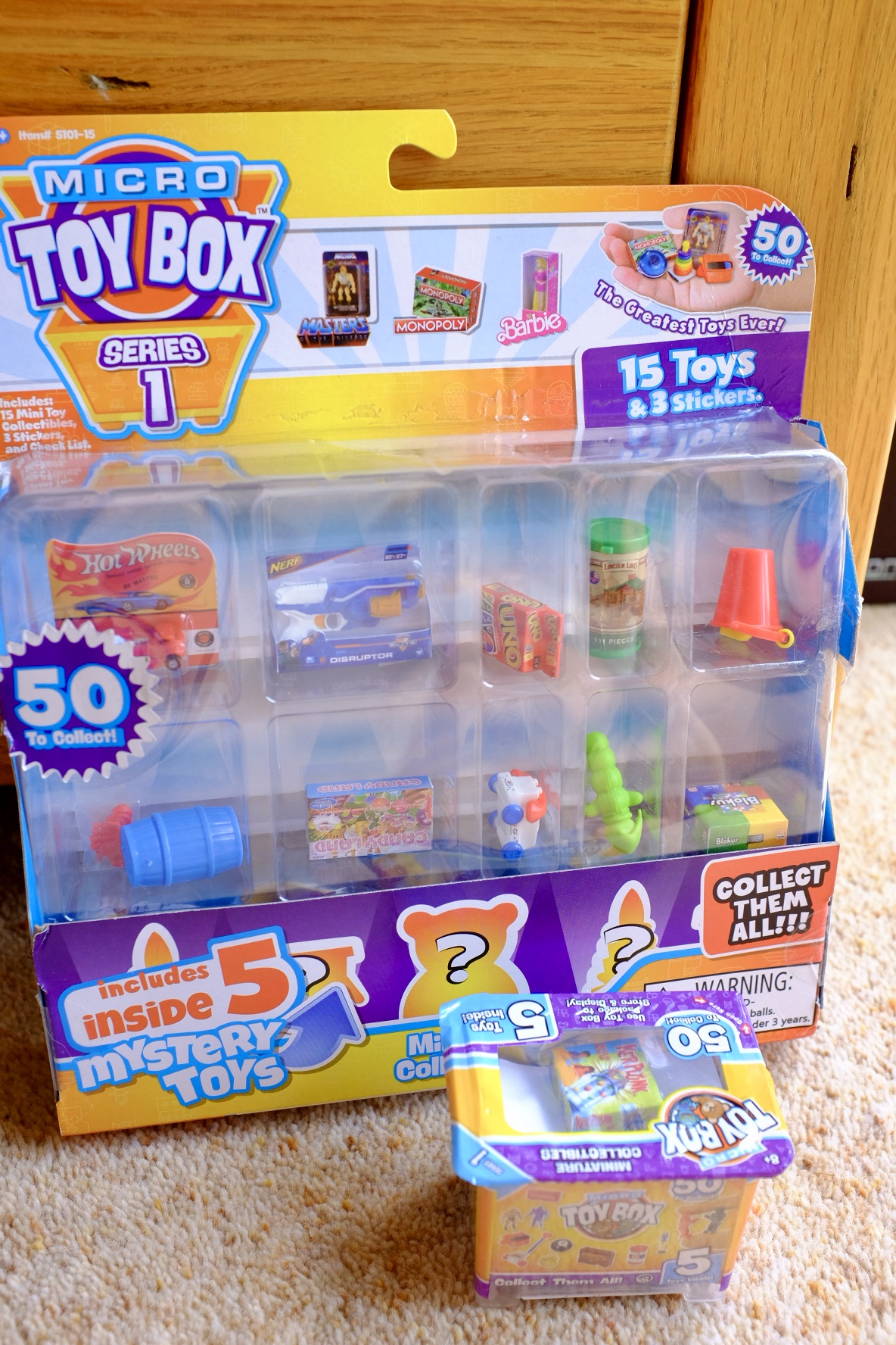 Micro Toy Box 15 and 5 packs