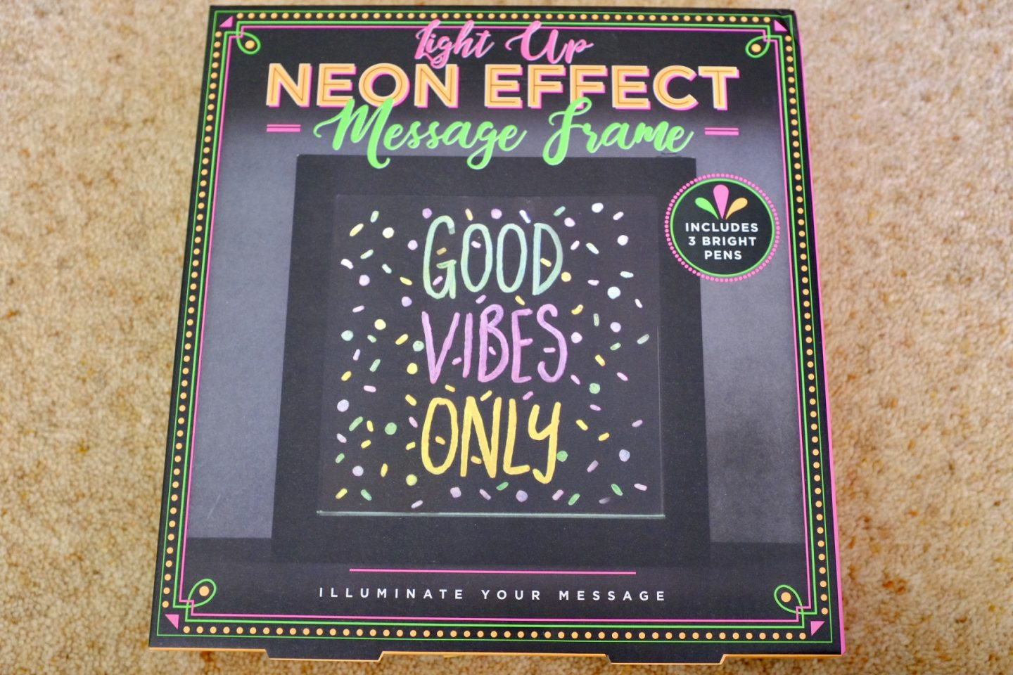 Neon Effect Message Frame box wicked uncle