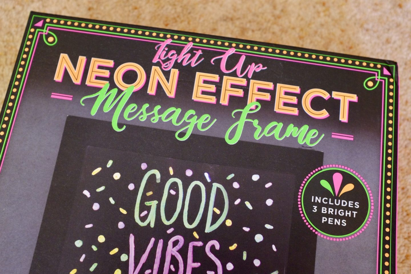 Neon Effect Message Frame in the box