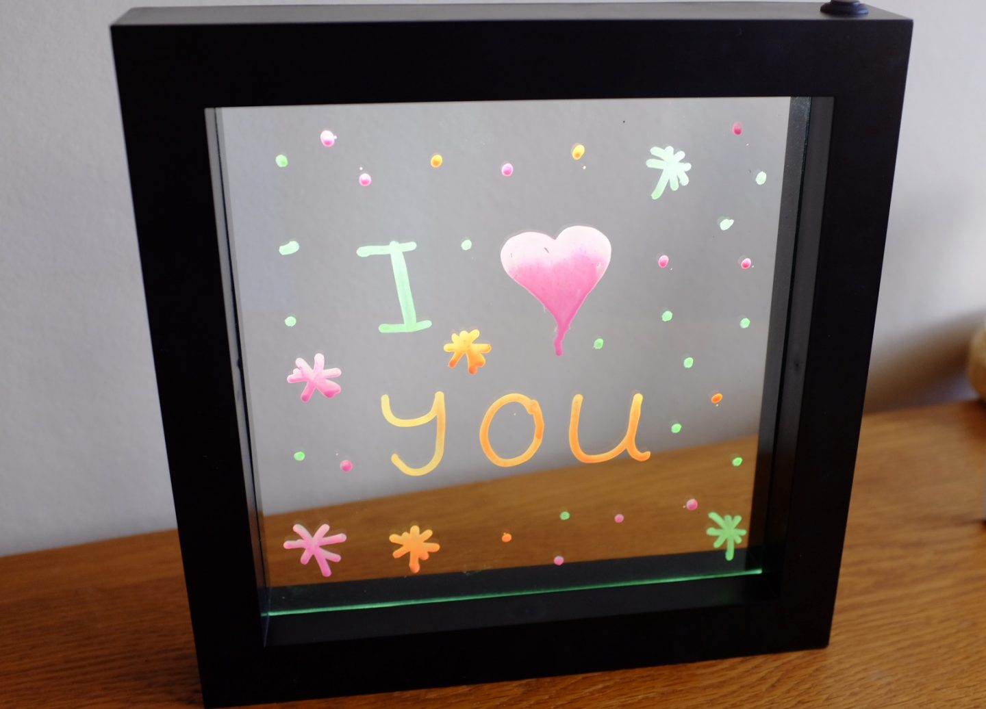 Neon Effect Message Frame lit up